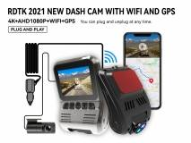 A505 4K UHD2160P DUOBLE LENS DASH CAM WITH WIFI AND GPS