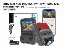 A505 2K 1440P CAR DVR WITH DOUBLE LENS WIFI AND GPS