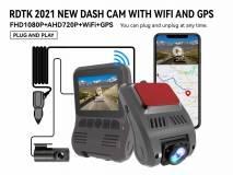 A505 FHD1080P CAR DVR WITH DOUBLE LENS WIFI AND GPS