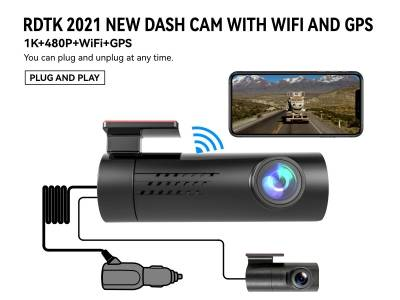 A206 1080P FHD DSAHCAM with WiFi GPS and 480P Rear Lens