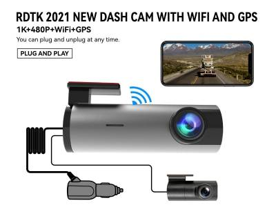 A208 1080P FHD DASHCAM with 480P rear and WiFi GPS
