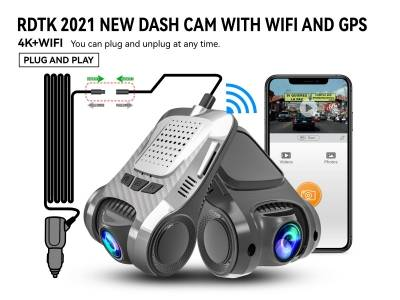 A301 4K UHD DASH CAM WITH AHD1080P REAR LENS AND WIFI