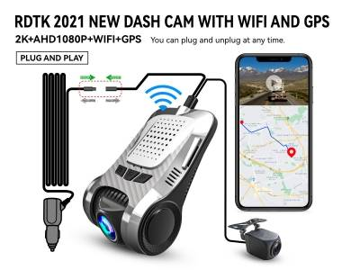 A301 QHD1440P DASH CAM WITH 1080P REAR LENS AND GPS