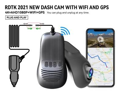 A200 4K UHD DASHCAM with GPS  and 1080P Rear lens