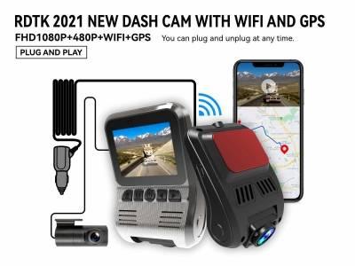 A505 FHD1080P CAR DVR WITH REAR LENS WIFI AND GPS