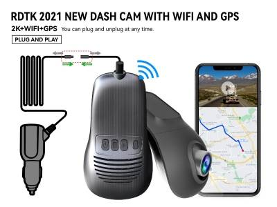A200 2K UHD DASHCAM with GPS  and Rear lens