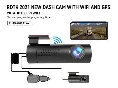 A206 2K QHD DASHCAM with 1080P Rear Lens