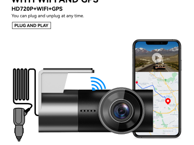 A209T 720P HD DASHCAM with WiFi and GPS APP